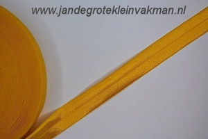Vouwelastiek 20mm breed, per meter, abrikoos