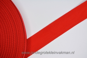 Koppelband, rood, 40mm breed, per meter