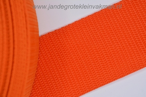 Koppelband, oranje, 50mm breed, per meter