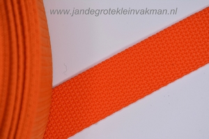 Koppelband, oranje, 25mm breed, per meter