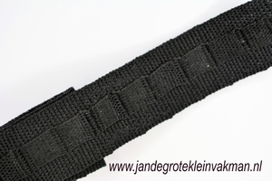 Gordijn plooiband, kleur 000 (zwart), 30mm breed,  per mtr