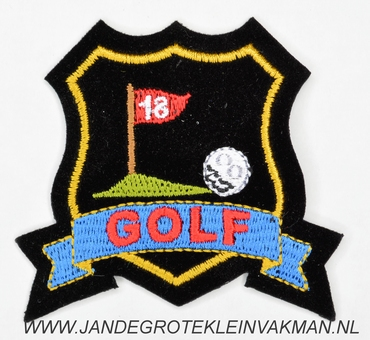 Fantasie decoratie applicatie 65x65mm, Golf