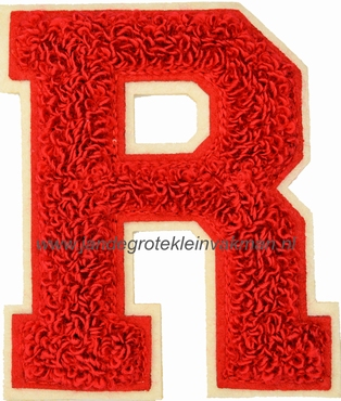 Baseball applicatie, letter R, rood