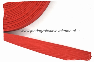 keperband, 20mm, rood, per meter