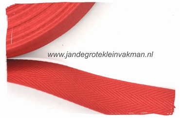 keperband, 30mm, rood, per meter