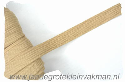 Veterband, synthetisch, 12mm breed, per meter, beige