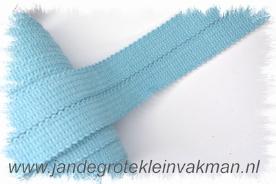 Tresband, 75% acril / 25% polyester, per meter, lichtblauw