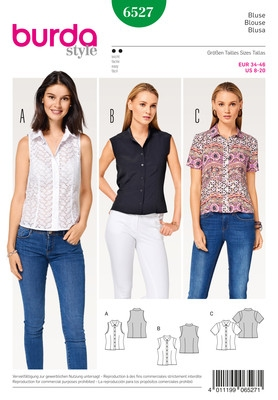 Burda naaipatroon, blouse
