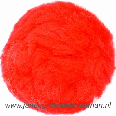 Pompon, synthetisch, ø ca. 50mm, rood