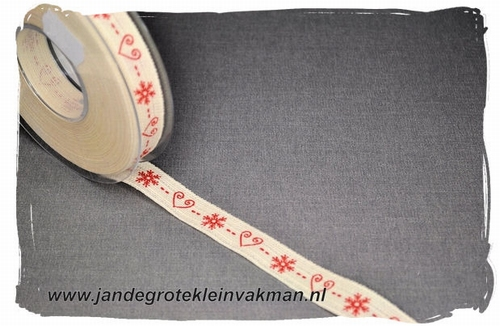 Sier of afwerkband kerst thema, ca. 16mm breed, per meter