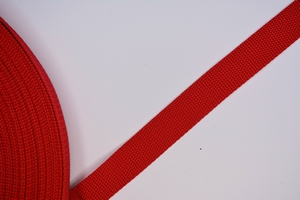 Koppelband, rood, 25mm breed, per meter