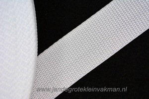Koppelband, wit, 30mm breed, per meter