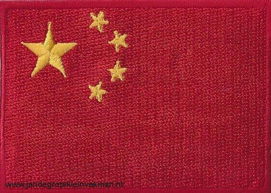 China, applicatie opstrijkbaar, 83mm x 58mm