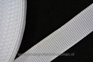 Koppelband, wit, 25mm breed, per meter
