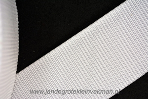 Koppelband, wit, 50mm breed, per meter