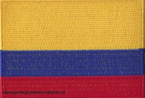 Colombia, applicatie opstrijkbaar, 83mm x 58mm