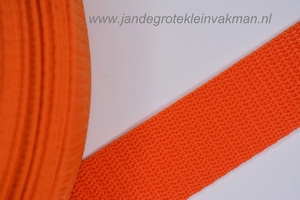 Koppelband, oranje, 30mm breed, per meter