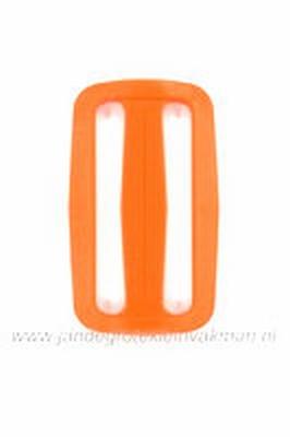 Gesp, kunststof, oranje, 50mm