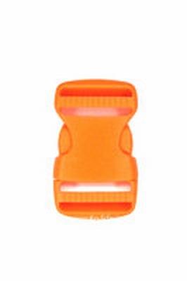 Insteekgesp, kunststof, oranje, 25mm