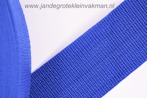 Koppelband, blauw, 50mm breed, per meter