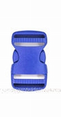 Insteekgesp, kunststof, blauw, 25mm