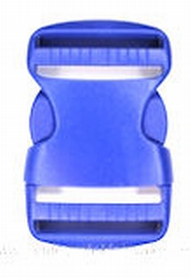 Insteekgesp, kunststof, blauw, 40mm