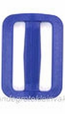 Gesp, kunststof, blauw, 40mm