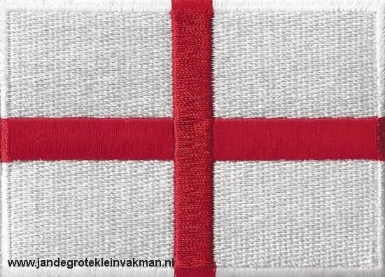 Engeland, applicatie opstrijkbaar, 83mm x 58mm