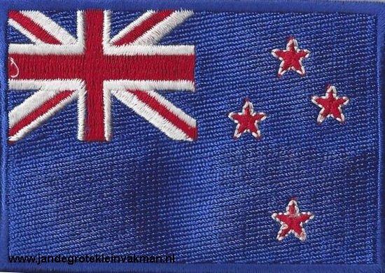 Nieuw Zeeland, applicatie opstrijkbaar, 83mm x 58mm
