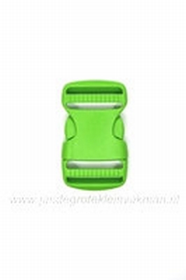 Insteekgesp, kunststof, groen, 25mm