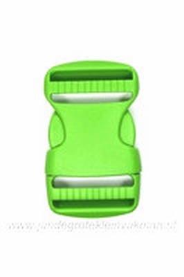 Insteekgesp, kunststof, groen, 40mm