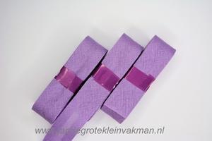 Biasband, katoen, 20mm breed, lila