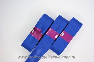 Biasband, katoen, 20mm breed, kobaltblauw