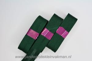 Biasband, katoen, 20mm breed, donkergroen
