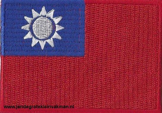 Taiwan, applicatie opstrijkbaar, 83mm x 58mm