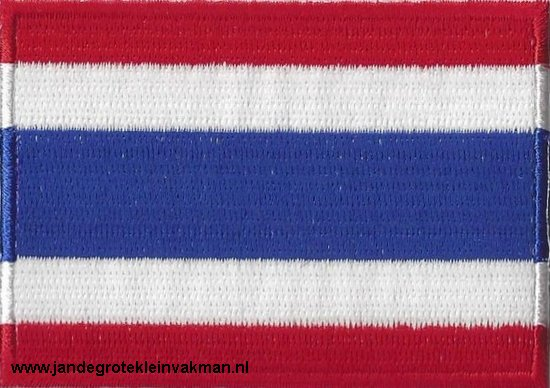 Thailand, applicatie opstrijkbaar, 83mm x 58mm