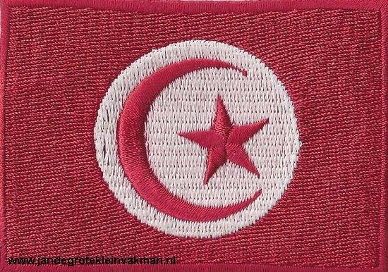 Tunesie, applicatie opstrijkbaar, 83mm x 58mm