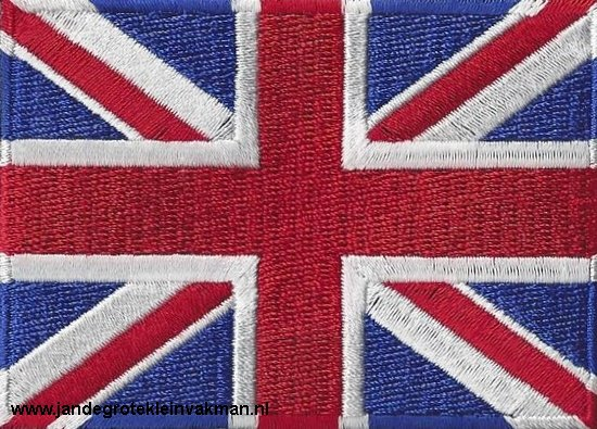 Verenigd Koninkrijk, applicatie opstrijkbaar, 83mm x 58mm