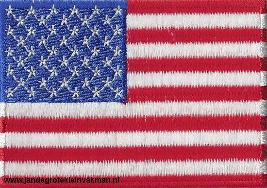 Verenigde Staten, applicatie opstrijkbaar, 83mm x 58mm