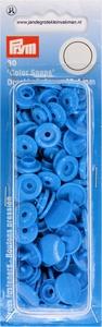 Prym Color Snaps, rond, kunststof. lichtblauw, 30 stuks