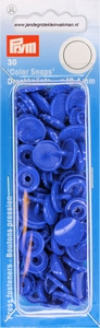 Prym Color Snaps, rond, kunststof. kobaltblauw, stuks