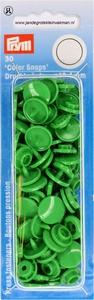Prym Color Snaps, rond, kunststof. groen, 30 stuks