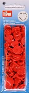 Prym Color Snaps, hartje, kunststof. rood, 30 stuks