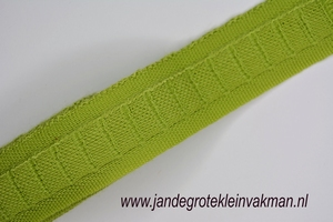 Gordijn plooiband, kleur 055 (l.groen),30mm breed, per mtr