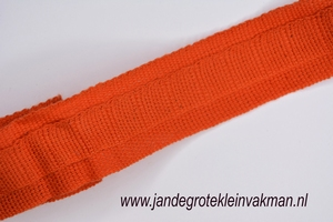 Gordijn plooiband, kleur 024 (oranje), 30mm breed, per mtr