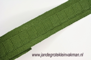 Gordijn plooiband, kleur 004 (groen),30mm breed, per mtr