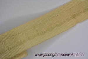 Gordijn plooiband, kleur 002 (ecru),30mm breed, per mtr