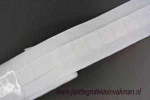 Gordijn plooiband, kleur 800 (wit), 30mm breed, per mtr