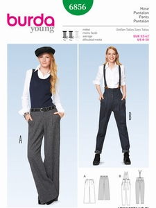 Burda naaipatroon, pantalon, maat 32-42