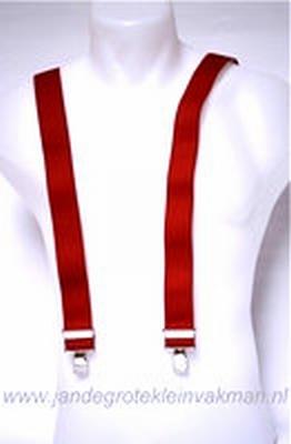 Bretel 35mm breed, rood